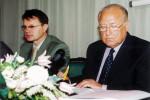 Сергей Апатенко и Виктор Черномырдин на конференции на Украине