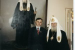 Сергей Апатенко и Патриах Алексий после обсуждения молодежной политики