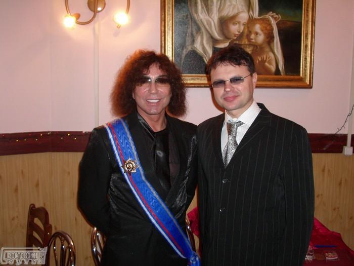 Валерий Леонтьев и Сергей Ростовский после награждения