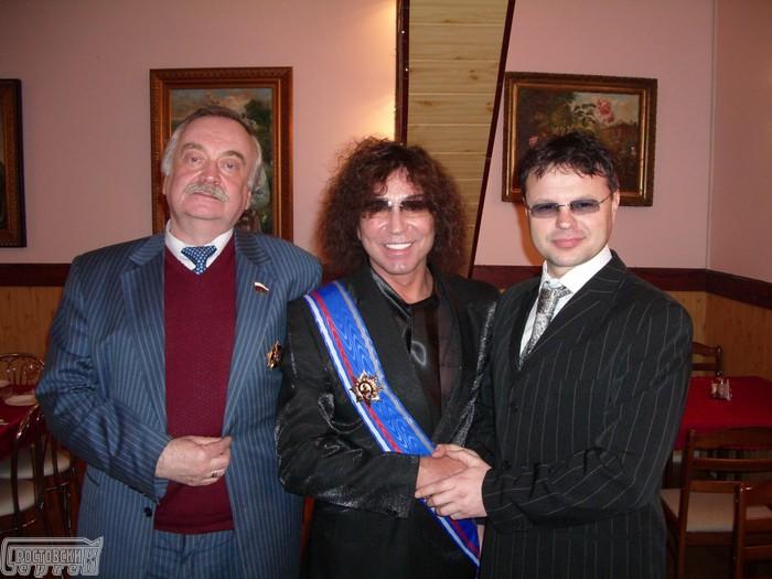поэт Николай Денисов, Сергей Ростовский и Валерий Леоньтев