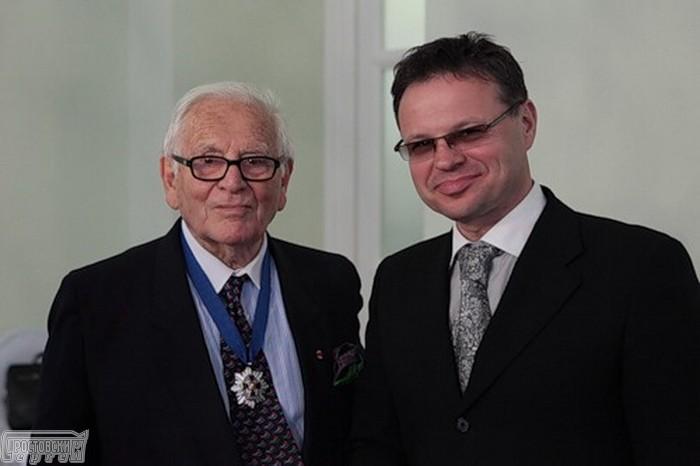 Сергей Апатенко и Пьер Карден