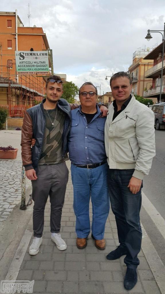 Робертино Лорети (Лоретти) с Сергеем Ростовским (Апатенко) в Италии